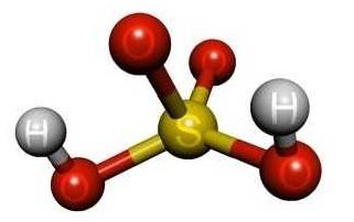 Структура серной кислоты