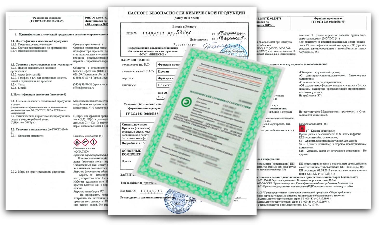 паспорта безопасности